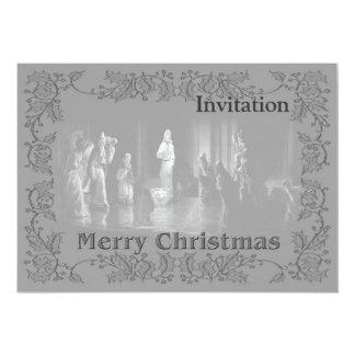 Grupo b/w del navidad invitación 12,7 x 17,8 cm