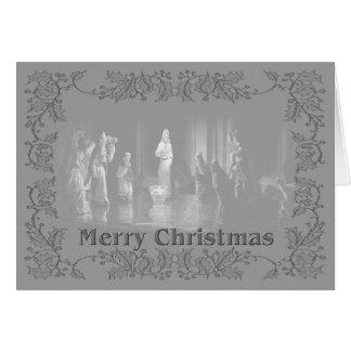 Grupo b/w del navidad tarjeta pequeña