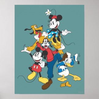 Grupo clásico de Mickey y de los amigos el | Póster