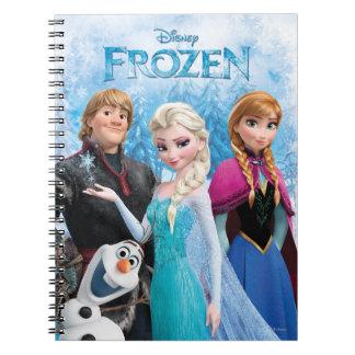 Grupo congelado libro de apuntes con espiral