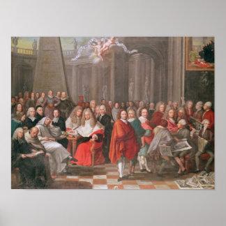 Grupo de Abbeville llevada caballeros distinguidos Póster