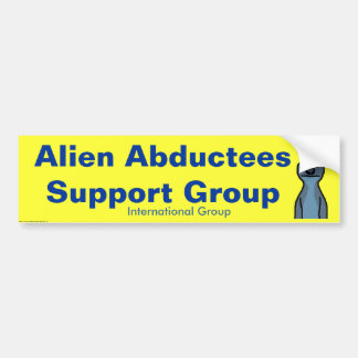 Grupo de ayuda extranjero de los Abductees - modif Pegatina Para Auto