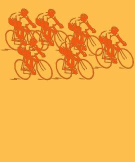 Grupo de ciclo, diseño anaranjado playeras
