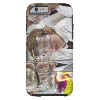 Grupo de experimento de observación de los niños funda resistente iPhone 6