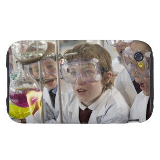 Grupo de experimento de observación de los niños tough iPhone 3 cobertura