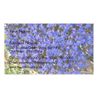Grupo de flores azules vivaces plantilla de tarjeta de visita