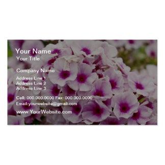 Grupo de flores de las flores plantilla de tarjeta de negocio