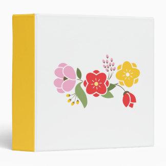 """Grupo de flores en rosa rojo y oro carpeta 1 1/2"""""""
