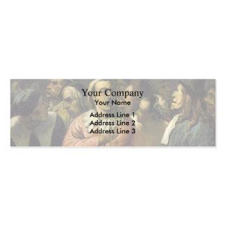 Grupo de Honore Daumier- de actores en el mediados Tarjetas De Visita