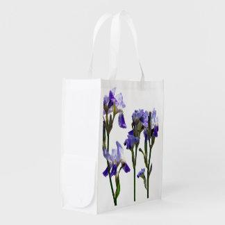 Grupo de iris púrpuras bolsas de la compra
