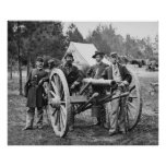 Grupo de la artillería de la guerra civil, 1860s poster