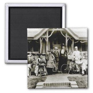 Grupo de la familia, c.1900 (foto de b/w) imanes
