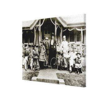 Grupo de la familia, c.1900 (foto de b/w) impresion de lienzo