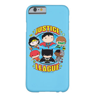 Grupo de la liga de justicia de Chibi Funda Barely There iPhone 6