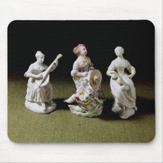 Grupo de la porcelana de Mennecy de un cantante Alfombrilla De Raton
