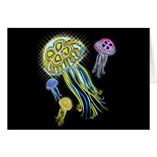 Grupo de las medusas felicitaciones