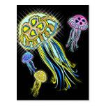 Grupo de las medusas postal