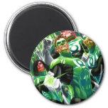 Grupo de linternas verdes imán redondo 5 cm
