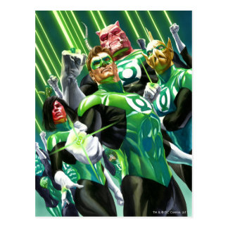 Grupo de linternas verdes postales