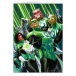 Grupo de linternas verdes tarjeta de felicitación