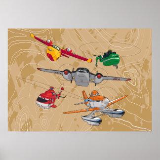 Grupo de los aviones póster
