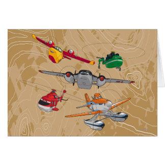 Grupo de los aviones tarjetas