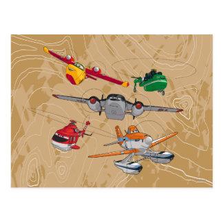 Grupo de los aviones tarjetas postales