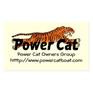 Grupo de los dueños del gato del poder de la tarje plantilla de tarjeta de negocio