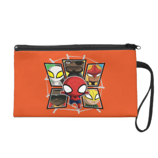 Grupo de los héroes del equipo de Spider-Man mini