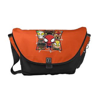 Grupo de los héroes del equipo de Spider-Man mini Bolsa De Mensajería