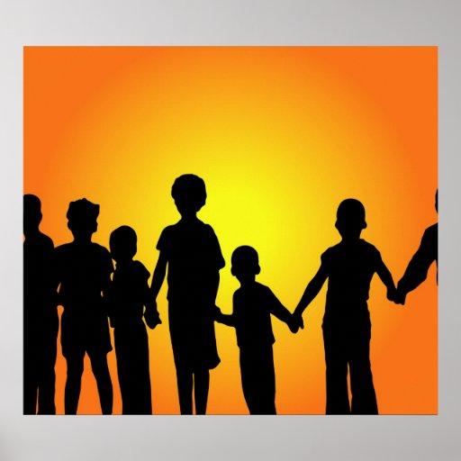 Grupo de los niños posters