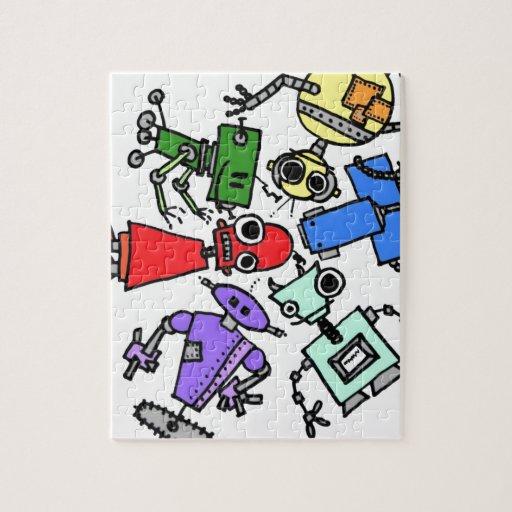 Grupo de los robots 2 puzzle con fotos