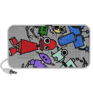 Grupo de los robots 4 notebook altavoces