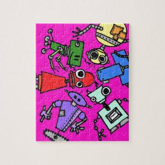 Grupo de los robots 5 puzzle con fotos