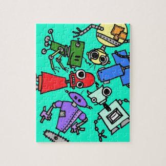 Grupo de los robots 6 puzzles con fotos