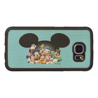 Grupo de Mickey y de los amigos el | en los oídos Fundas De Madera Para Samsung S6