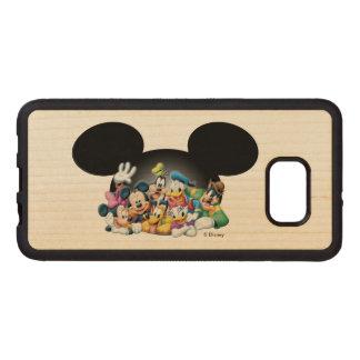 Grupo de Mickey y de los amigos el | en los oídos Fundas De Madera Para Samsung S6 Edge Plus
