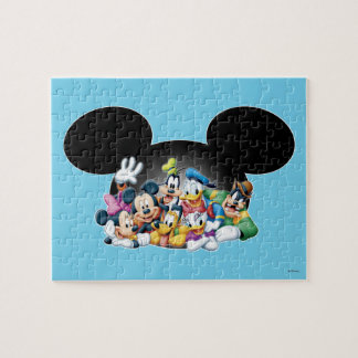 Grupo de Mickey y de los amigos el | en los oídos Puzzles