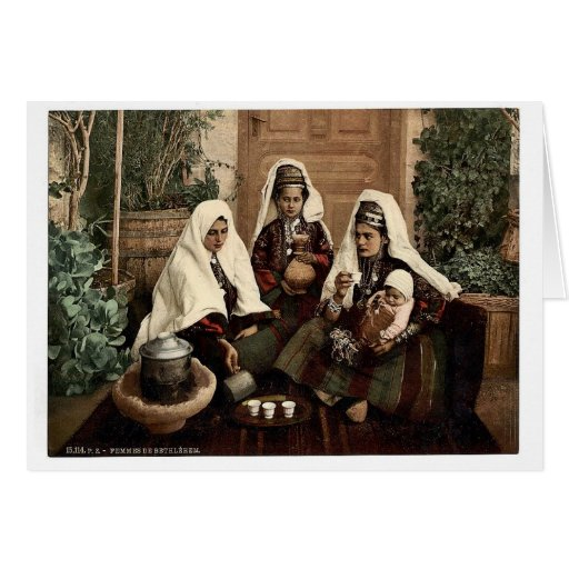 Grupo de mujeres de Belén, Tierra Santa, (es decir Tarjeta De Felicitación