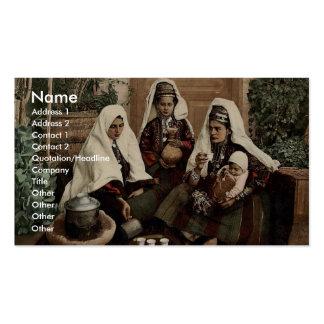 Grupo de mujeres de Belén, Tierra Santa, (es decir Tarjetas De Visita