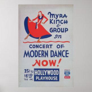 Grupo de Myra Kinch de danza moderna Poster