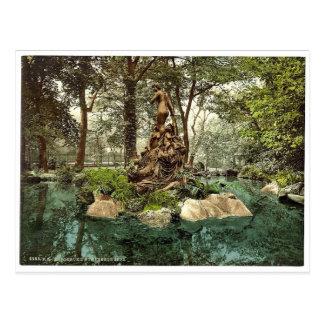 Grupo de ninfas en el lago park Karlsruhe Baden Tarjetas Postales