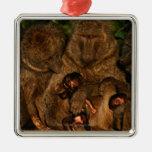 Grupo de observación verde oliva de los babuinos ( ornamentos para reyes magos