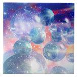 Grupo de planetas azulejo cuadrado grande