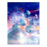 Grupo de planetas tarjetas postales