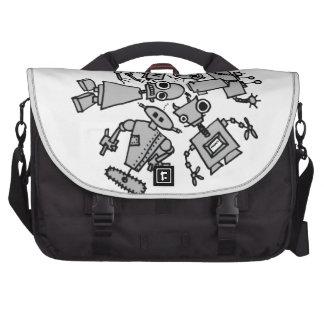 Grupo de robots bolsas para portatil