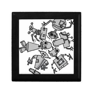 Grupo de robots cajas de regalo