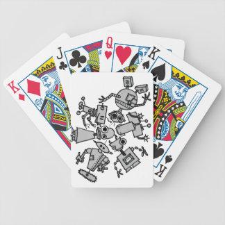 Grupo de robots cartas de juego