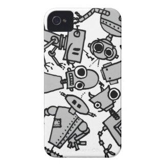 Grupo de robots iPhone 4 fundas