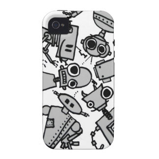 Grupo de robots Case-Mate iPhone 4 fundas